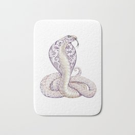 Cobra Snake Tattoo Bath Mat