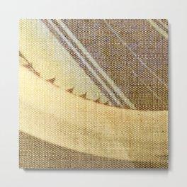 Agave Cactus on burlap cloth Metal Print