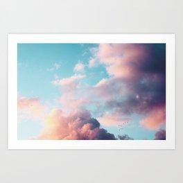 Clouds Paradise Art Print