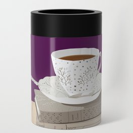 Teacup, Jane Austen, & Charlotte Brontë Books Can Cooler