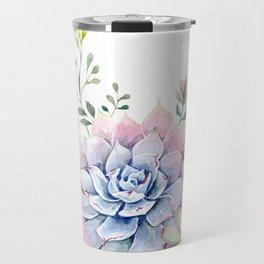 succulent watercolor 1 Travel Mug
