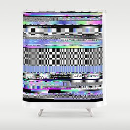 Glitch Ver.2 Shower Curtain
