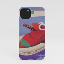 Fish Smoking a Cigar and Relaxing on Float iPhone Case