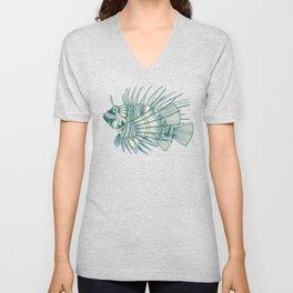 fish mirage teal Unisex V-Neck