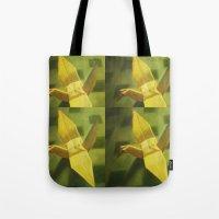 crane Tote Bags featuring Crane by Hugo F G