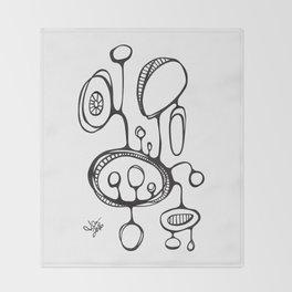 Orbs N Lines - Terrarium Throw Blanket