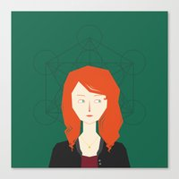 amy pond Canvas Prints featuring Amy Pond by Katherine Liu