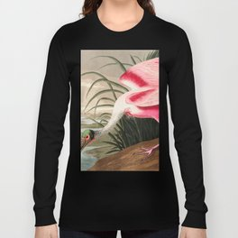 Tropical Exotic Fantasy Bird Landscape Long Sleeve T-shirt