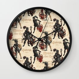 Medieval Knights in Shining Armor Wall Clock