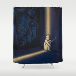 Dark Side Of Me Shower Curtain