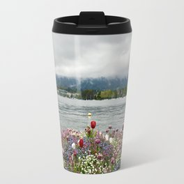 The flowers at Lake Zurich Travel Mug