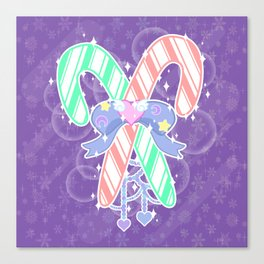 Candy Canes: Fairy Kei Version Canvas Print