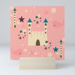 sand castle pink Mini Art Print