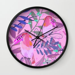 Tropic Toucan Birds Wall Clock