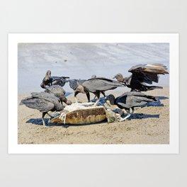 Wildlife in Action Art Print