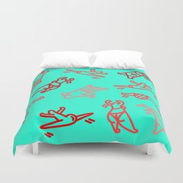 Dance In Your (Blue) Pants Duvet Cover