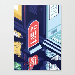 A night out in Seoul - Part 6 - PC Bang Canvas Print