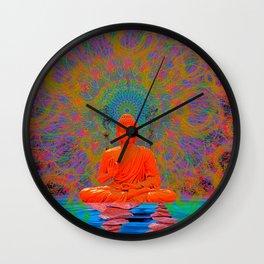 Cool Water Zen (Ultraviolet) (psychedelic, meditation) Wall Clock