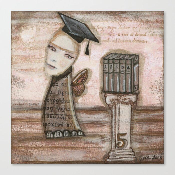 Athena Goddess Of Wisdom Canvas Print By Gemgirlart