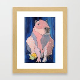 Capybara and snail Framed Art Print