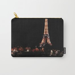 Rose Gold Eiffel Tower Carry-All Pouch