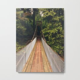A Lonely Buntzen Lake Bridge Metal Print