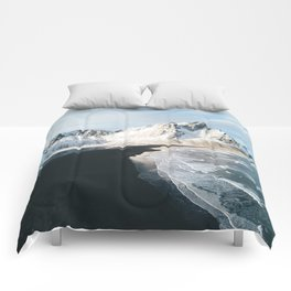 Iceland Mountain Beach - Landscape Photography Comforters
