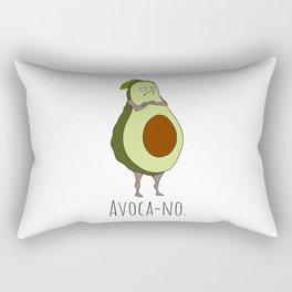 Avoca-no: Grumpy Avocado Rectangular Pillow