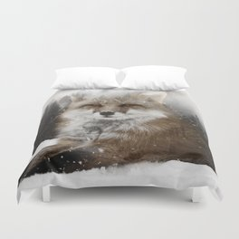 Fox Stare Duvet Cover
