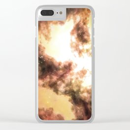 Weaving Nebula Clear iPhone Case
