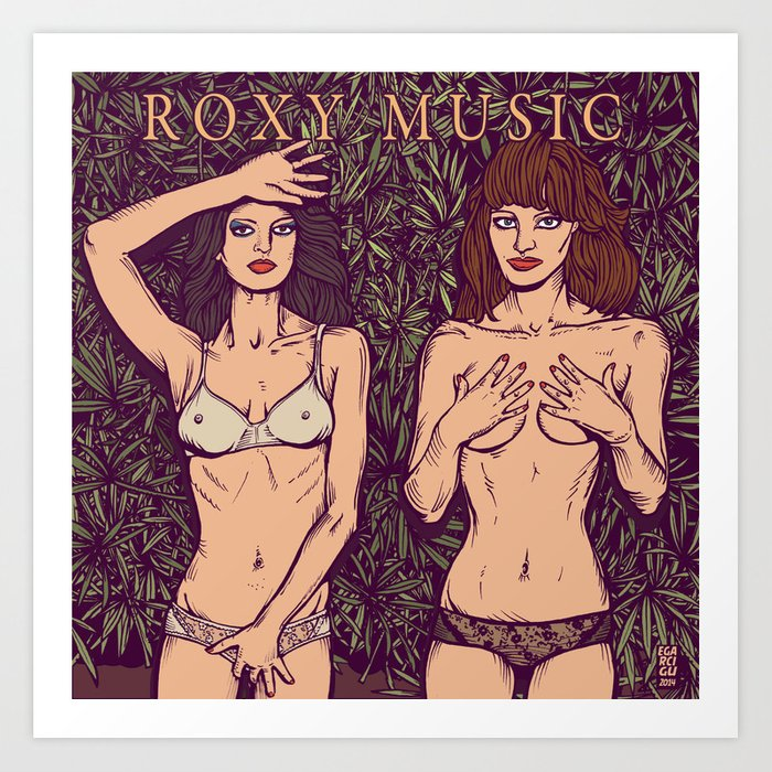 dc7f9ee1 ROXY MUSIC - Country Life Art Print by egarcigu | Society6