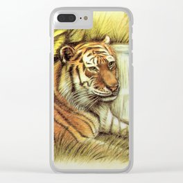 Tiger in free Wilderness Clear iPhone Case