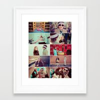 tenenbaum Framed Art Prints featuring Tenenbaum by Malice of Alice