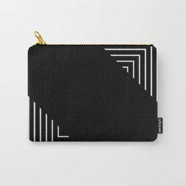 Modern Black and White Geometrical Patterns Carry-All Pouch