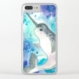Baby narwhal Clear iPhone Case