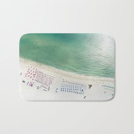 Helicopter View of Miami Beach Bath Mat