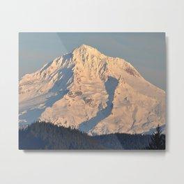 Twilight Over Mount Hood Metal Print