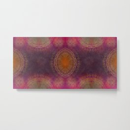 """Violet & Orange Mandala Deluxe"" Metal Print"