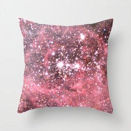 Pink Star Sparkle Throw Pillow