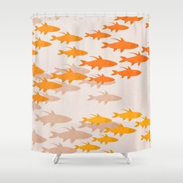 Gold fishes 2 Shower Curtain