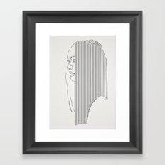 One Hairy Line Framed Art Print