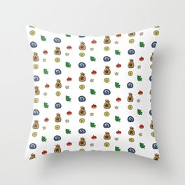 animal crossing Throw Pillow