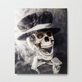 The Dapper Skeleton Metal Print