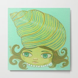 Shell Head Metal Print