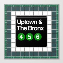 subway bronx sign Canvas Print