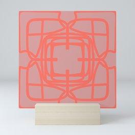 Medallion Pressed Rose & Living Coral Mini Art Print