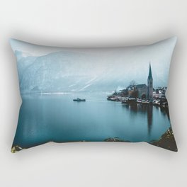 City by Water (Color) Rectangular Pillow