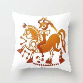 Boudicca takes the reigns. Throw Pillow
