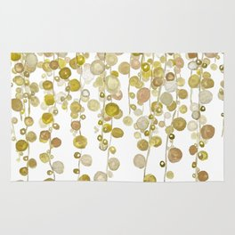 golden string of pearls watercolor 2 Rug