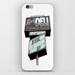 Old deli sign iPhone Skin